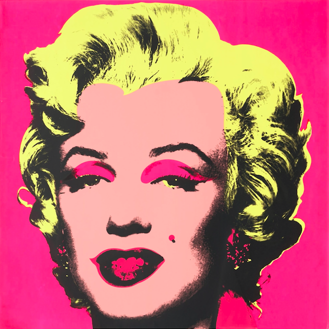 """Untitled from Marilyn Monroe, 1967. One from a portfolio of 10 screenprints, composition and sheet: 36 x 36"""" (91.5 x 91.5 cm). Image Source: MoMA."""