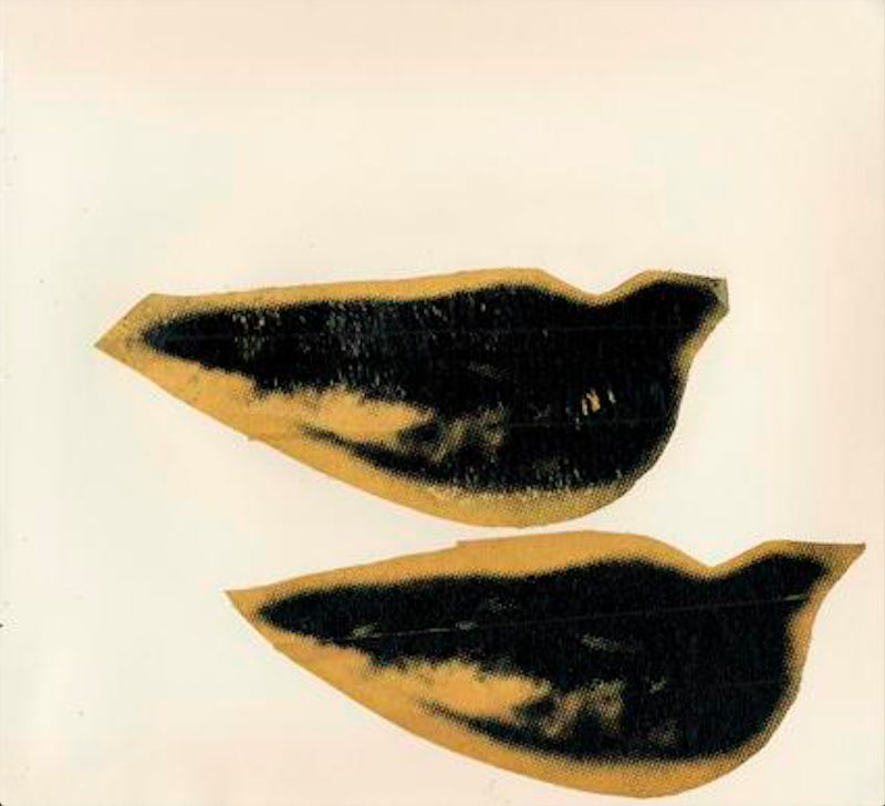 Lips, c. 1975. Unique Screenprint and Tape Collage, 8 x 8.5 inches. Image Source: The Danziger Gallery.