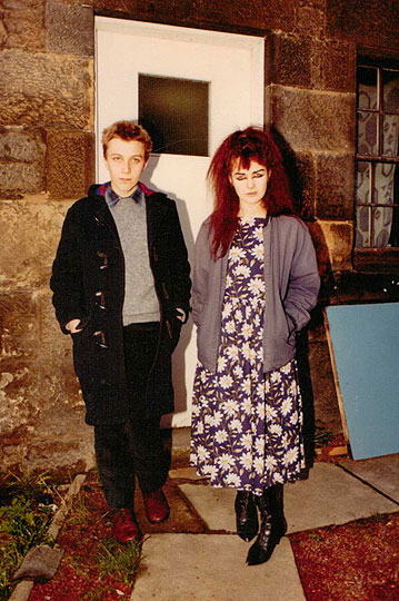 Stephen-Pastel-and-Jill,-Glasgow,-1982