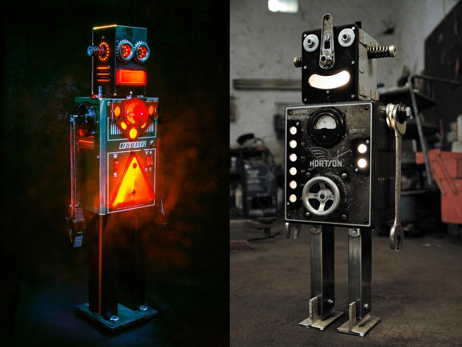 廢棄金屬零件新生命:藝術家 +Brauer 的燈光機器人