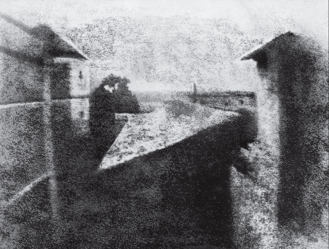 View from the Window at Le Gras,1826, Joseph Nicéphore Niépce