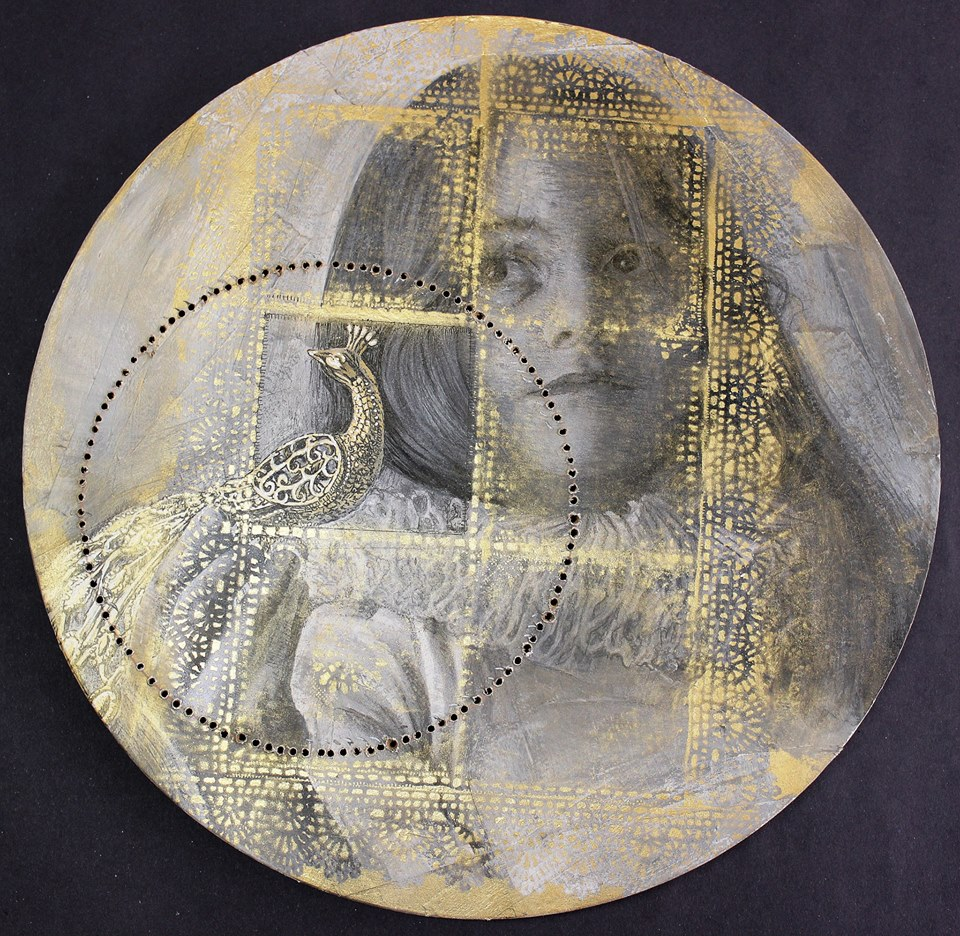 Gold, Highness Series, 2014. Mixed media on board, 40 X 40 cm.