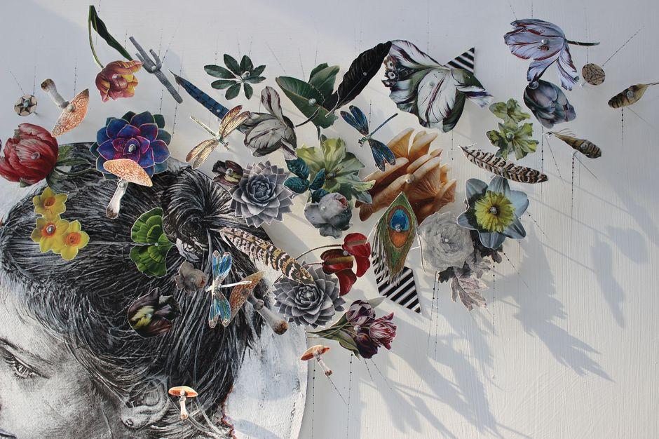 Botanical Studies, 2016. Mixed technique, 50 X 90 cm.