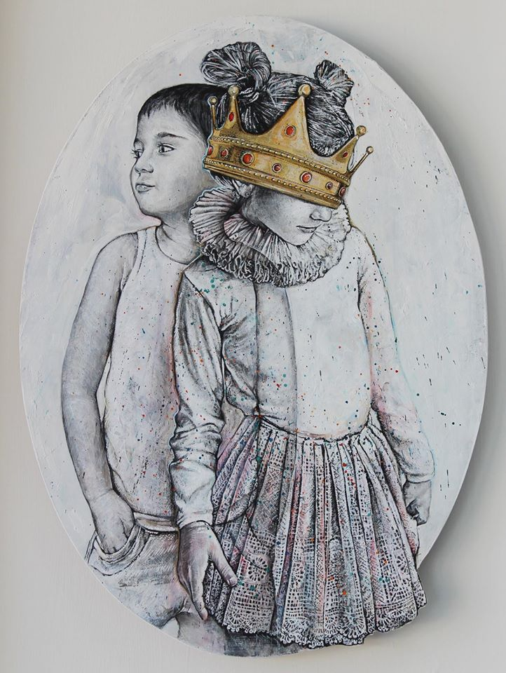 Two, 2016. Mixed technique, 47 X 65 cm.