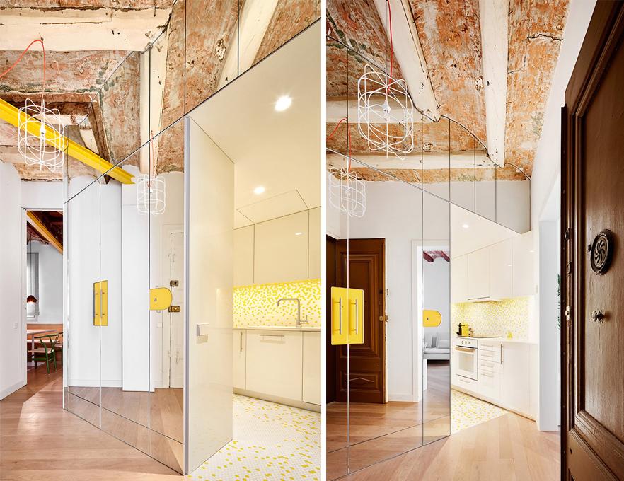 輝映暖意的空間萬花筒:宛如鏡宮的西班牙公寓 Parlament 19
